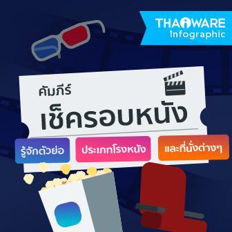 คัมภีร์เช็ครอบหนัง รู้จักตัวย่อ ประเภทโรงหนัง และที่นั่งต่างๆ [Thaiware Infographic ฉบับที่ 37]