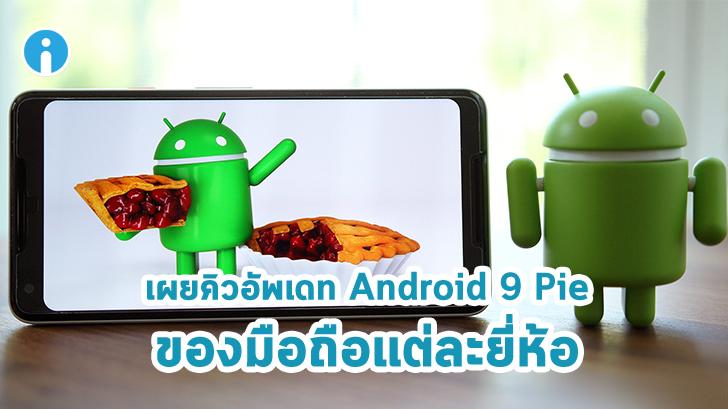 มือถือของคุณจะได้สัมผัส Android 9 Pie เมื่อไหร่ มาดูกำหนดการอัปเดทกันเถอะ
