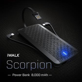 รีวิว  Power Bank รุ่น Scorpion ขนาดความจุ 8,000 mAh ชาร์จไว น้ำหนักเบา พกง่าย จาก iWALK