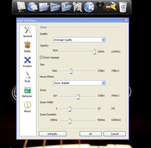 RocketDock (โปรแกรมจัด Icon Desktop ให้เป็นระเบียบ) 1 3