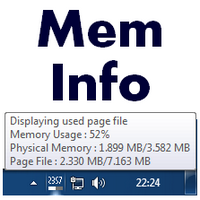 MemInfo (โปรแกรม เตือนหน่วยความจำ ขณะใช้งาน คอมพิวเตอร์)
