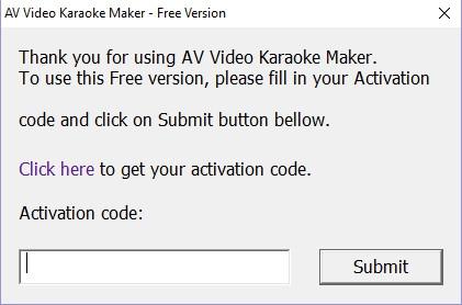 av video karaoke maker activation code