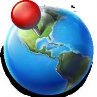 Blue Planet (โปรแกรม Blue Planet เปิดแผนที่โลก บนพื้นหลัง สำหรับ Mac)